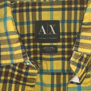 Armani Exchange Plaid XS